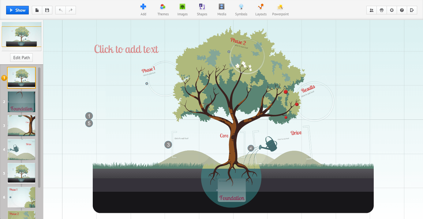 Prezi - screenshot 1