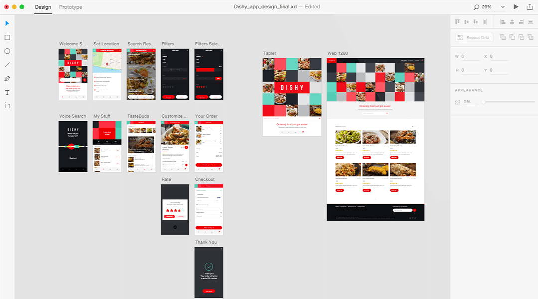 Adobe XD - screenshot