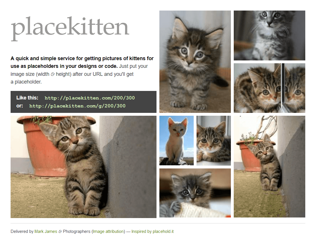 Placekitten - screenshot