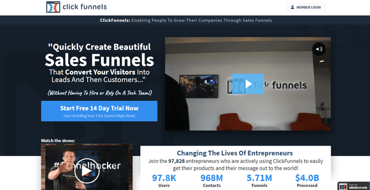 ClickFunnels - screenshot 1