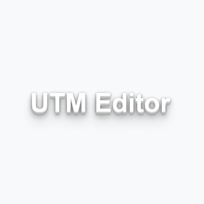 UTM Editor – efficient tagging of campaign links
