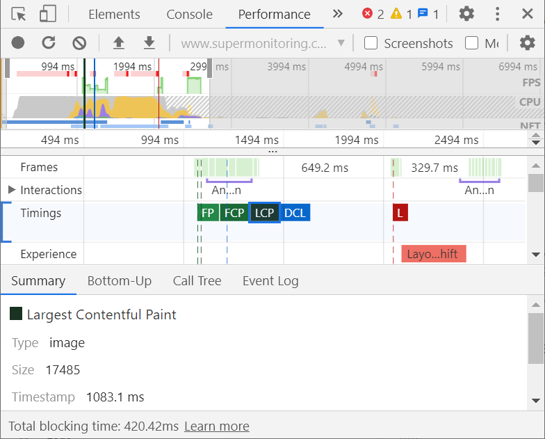 Chrome DevTools - screenshot