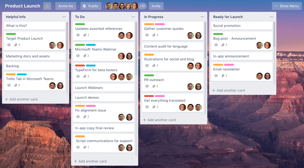 Trello - screenshot