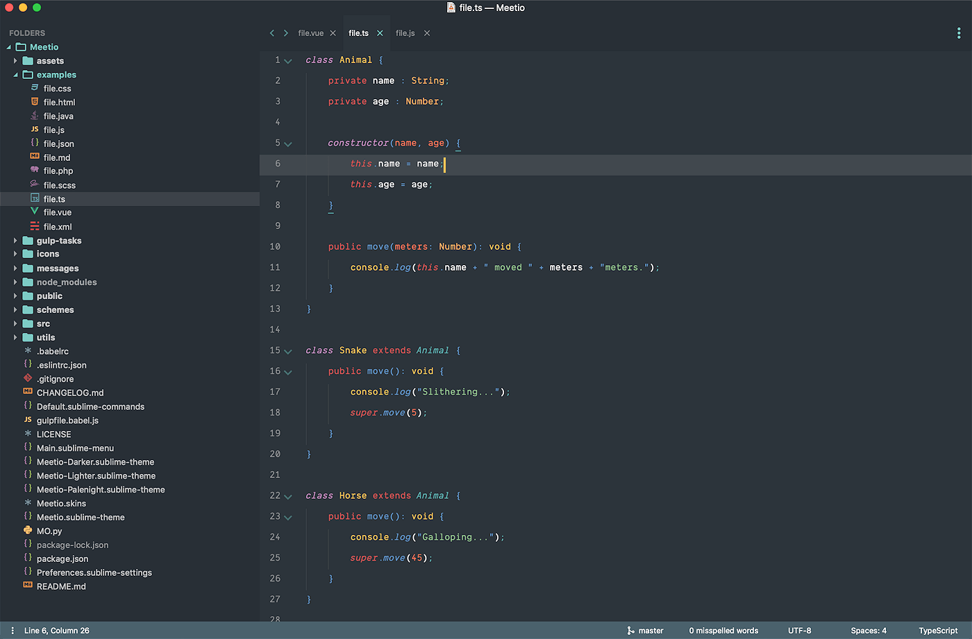 Sublime Text - zrzut ekranu