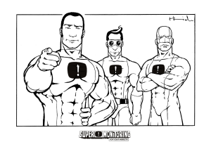 Coloring Page: Superheroes 2