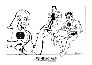 Coloring Page: Superheroes
