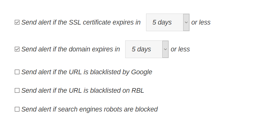monitoreo de dominios y certificados SSL