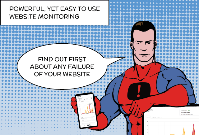 Superhero-powered uptime monitoring for your website.