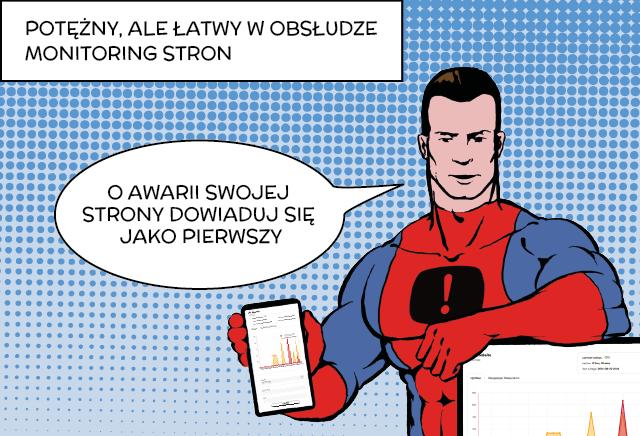 Superbohaterski monitoring dostępności dla Twojej strony internetowej.